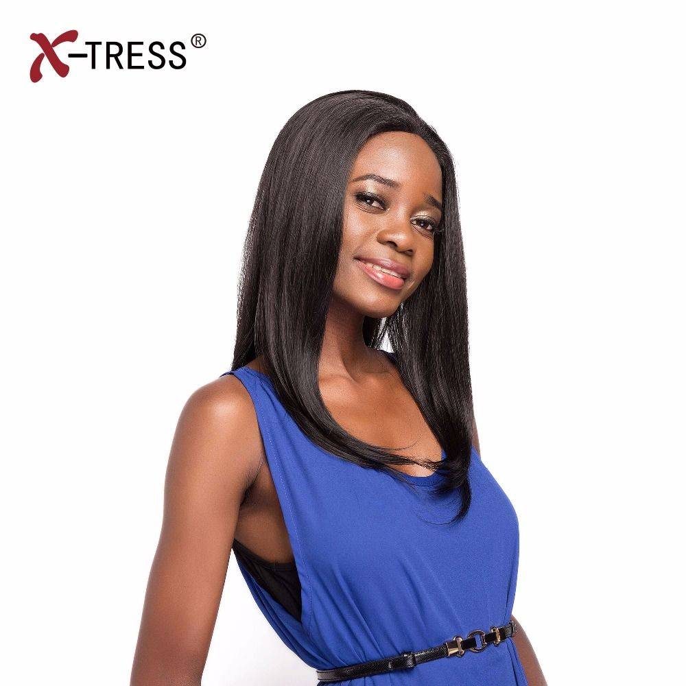 Best x tress inch straight lace front wigs with baby hair ombre