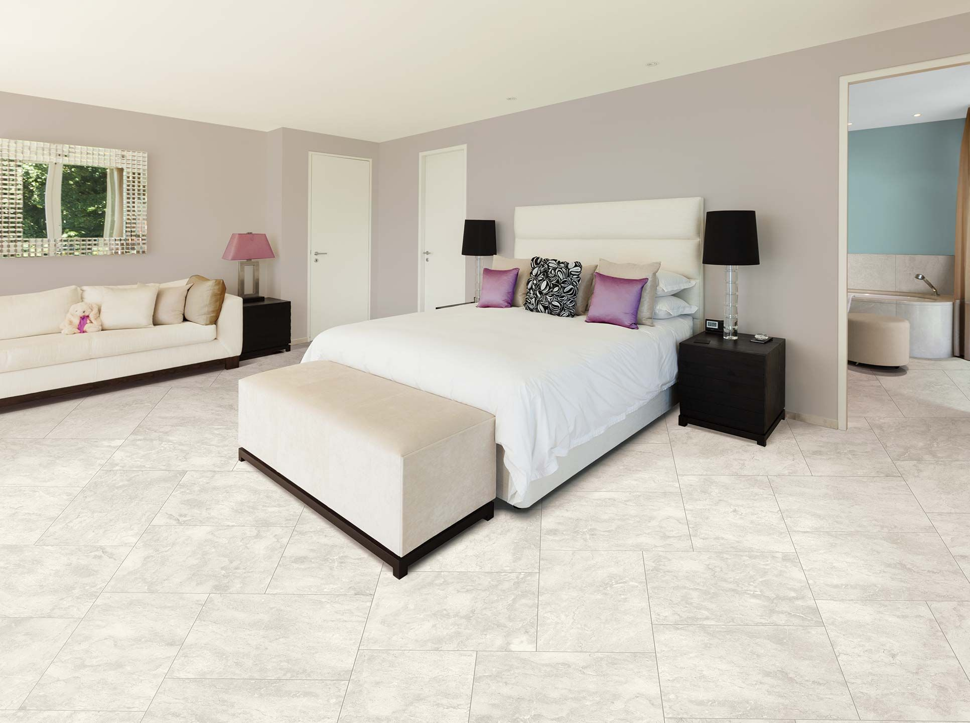 Natural In Color And Movement Suburb Collection Provides A Warm Neutral And Finished Appearance That Su Bedroom Flooring Awesome Bedrooms Comfortable Bedroom
