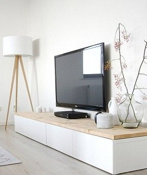Display Your Television On A Modern Media Console Minimalist Home Home Living Room Interior