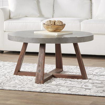Living Room Update Concrete Coffee Tables Diy Coffee Table