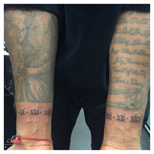 Ekpo Esito Blog Kanye West Tattooed Birthdates Of His Mother And Daughter North On His Wrists In Roman Numerals Kanye West Tattoo Kanye Tattoo Dad Tattoos