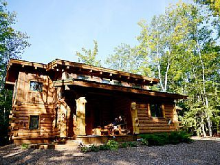 Stunning Door County Cabin In The Woods Wi Fi Firepit Fireplace Game Room Egg Harbor Cabins In The Woods Door County Fire Pit Landscaping