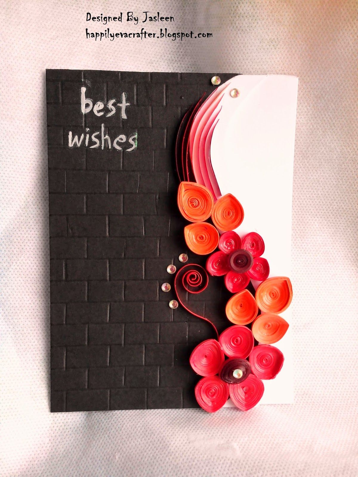 Handmade Greeting Card With Quilling