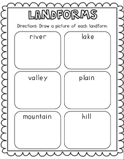Worksheets Landforms And Bodies Of Water Worksheets landforms and bodies of water freebie first grade science social studies activity water