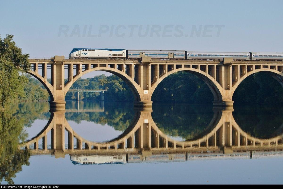 RailPictures.Net Photo: AMTK 25 Amtrak GE P42DC at Fredericksburg, Virginia by RailFan94