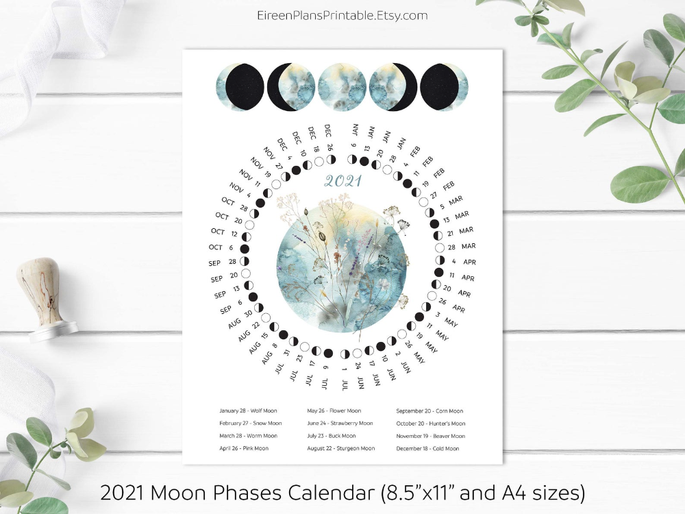New Moon Calendar 2021 Usa Pictures
