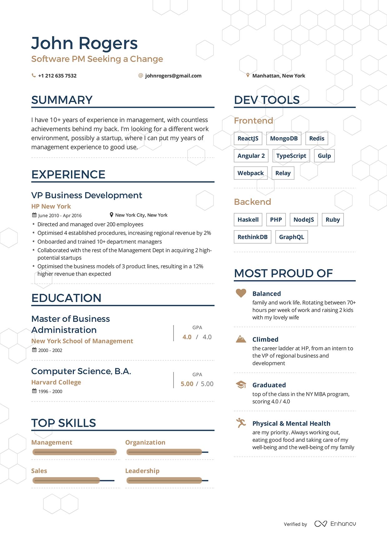 Cv Resume Example Jobs