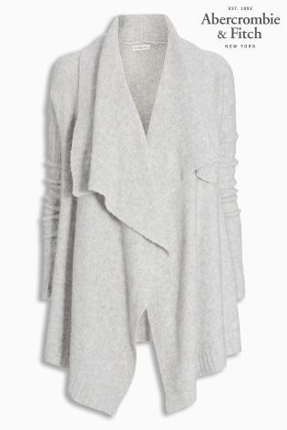Buy Grey Abercrombie & Fitch Drape Cardigan from the Next UK ...