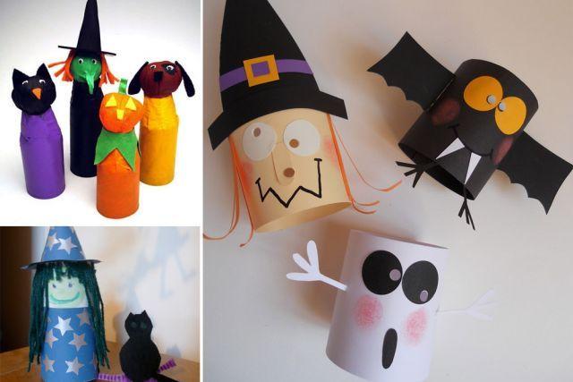 Bricolages d 39 halloween avec des rouleaux rouleaux de papier de toilette papier toilette et - Bricolage papier toilette ...