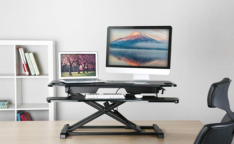 Amazon Com Standing Desk Converter Imtkotw Height Adjustable