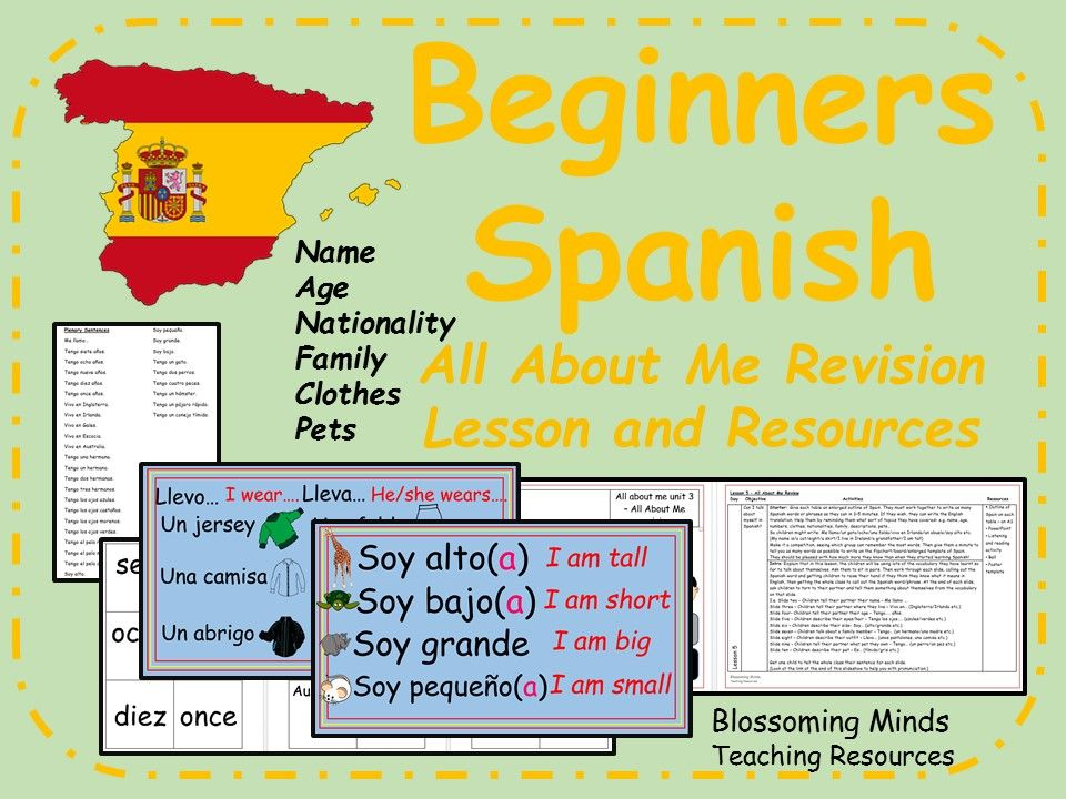 spanish lesson and resources ks2 all about me revision spanish key stage 3 ages 11 14. Black Bedroom Furniture Sets. Home Design Ideas