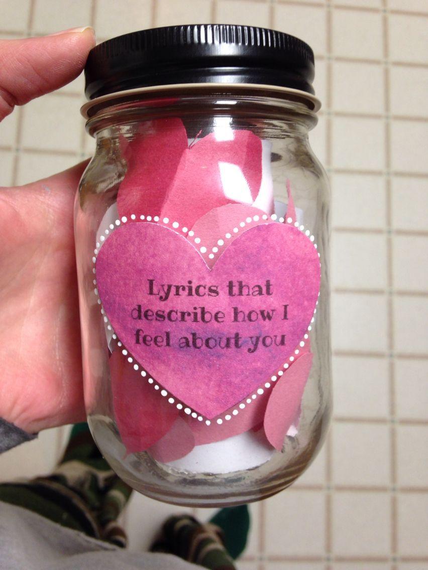 Lyrics that describe how i feel about you mason jar diy boyfriend