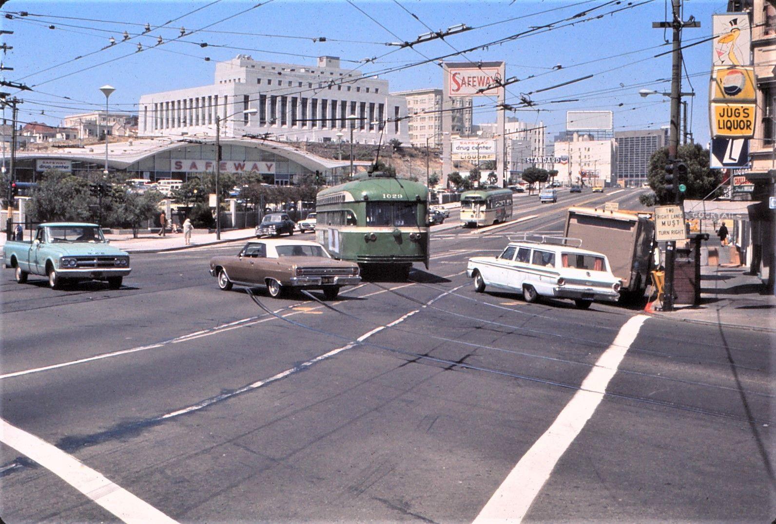 SF Muni PCC   Car 1029 making corner. Circa early 70's. SF U…   Flickr