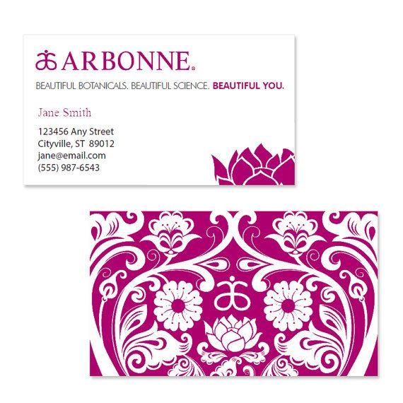 Arbonne Business Card Template Pink Arbonne Business Cards Arbonne Business Arbonne