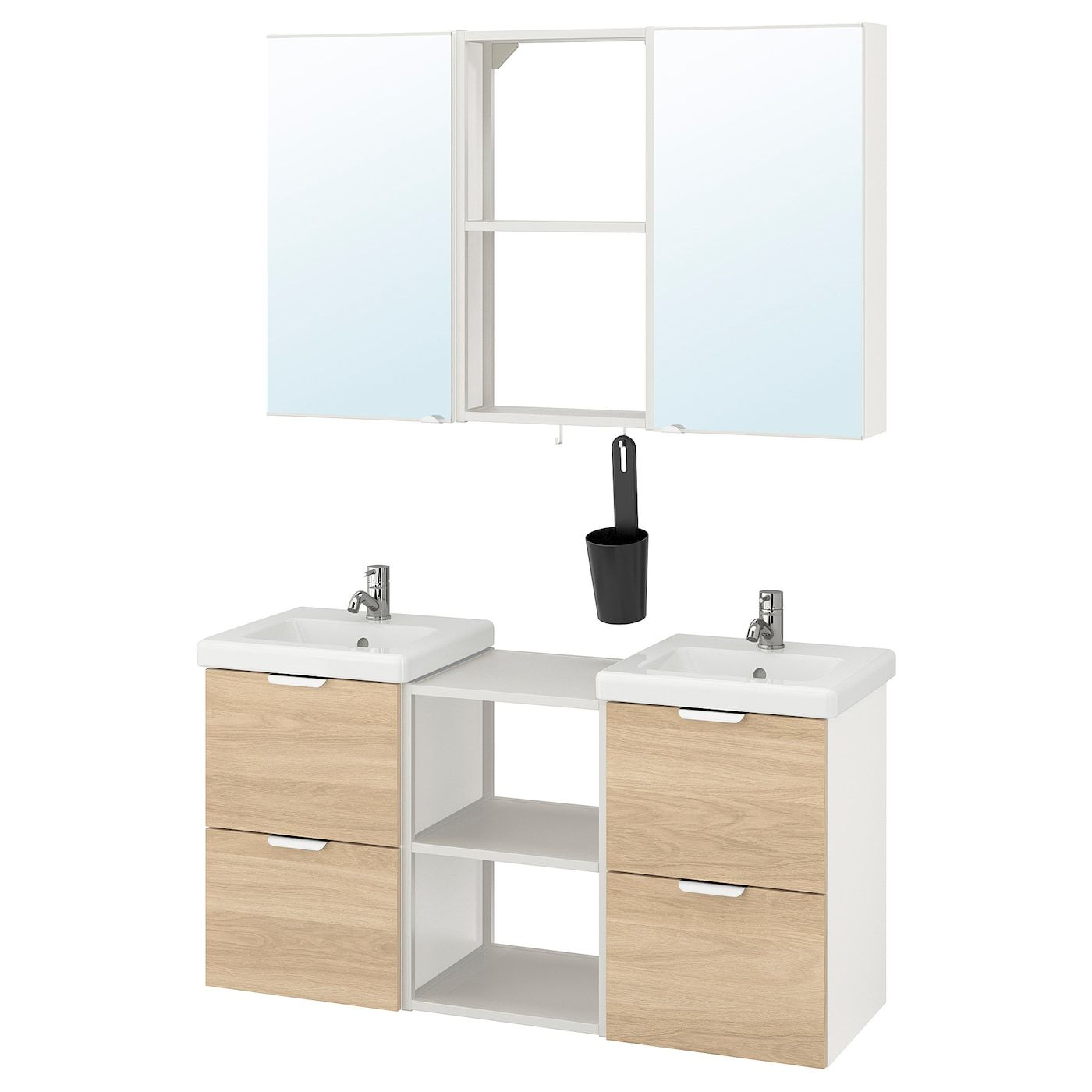 IKEA ENHET / TVÄLLEN Bathroom furniture, 22 pieces