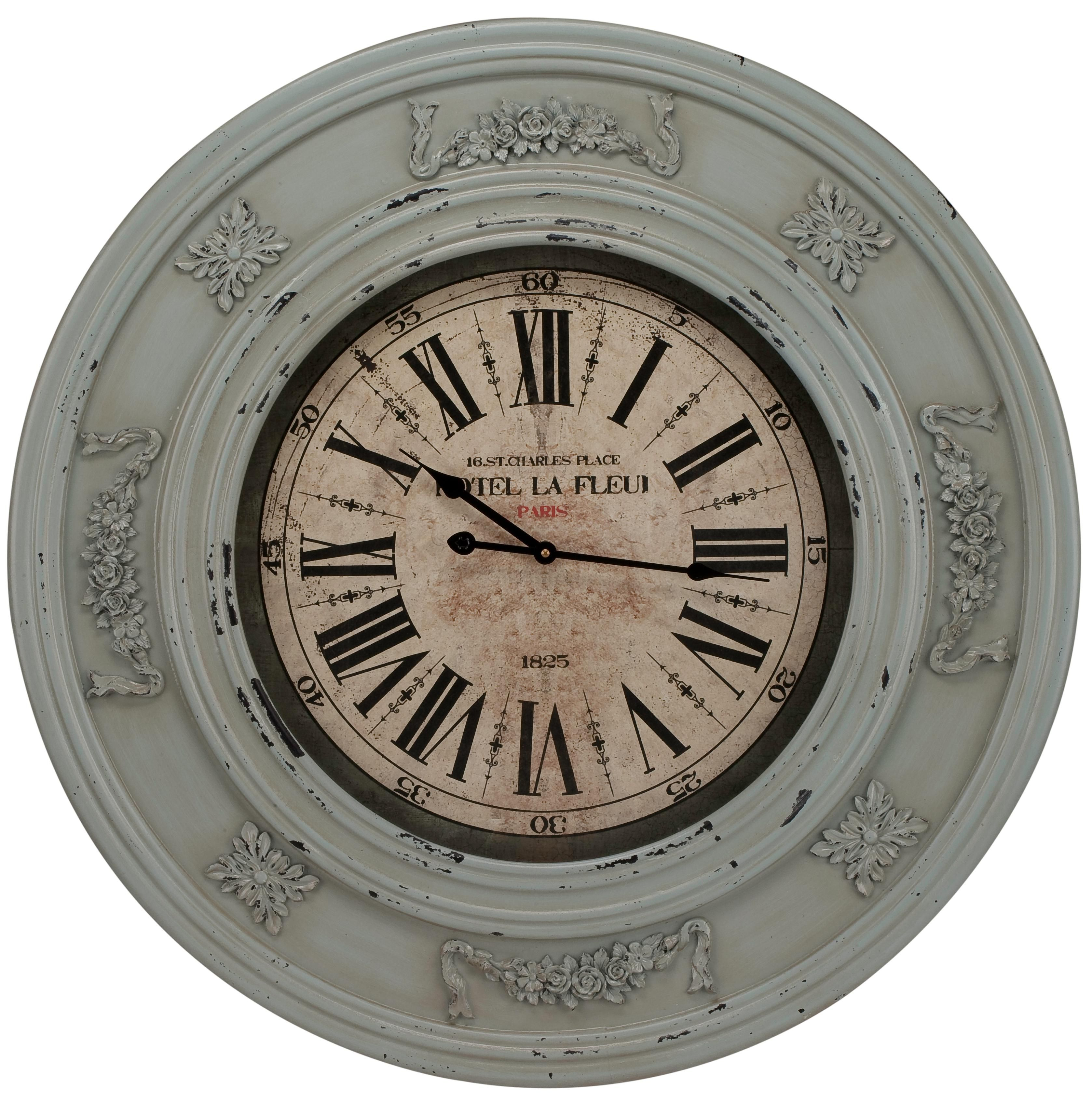 Cooper Classics Randolph 30 Wide Vintage Wall Clock U9361 Lamps Plus Vintage Wall Clock Wall Clock Traditional Wall Clocks