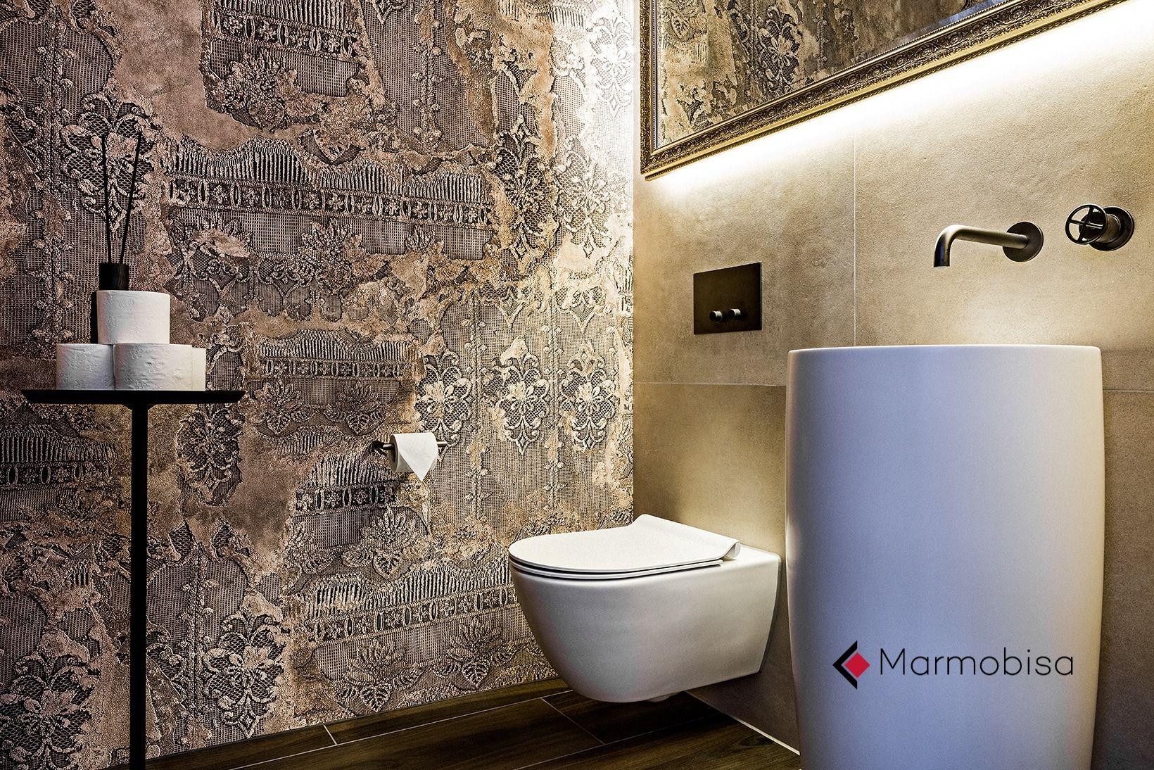 Stilvoller Wandbelag In Der Toilette Belag Feinsteinzeug Wand