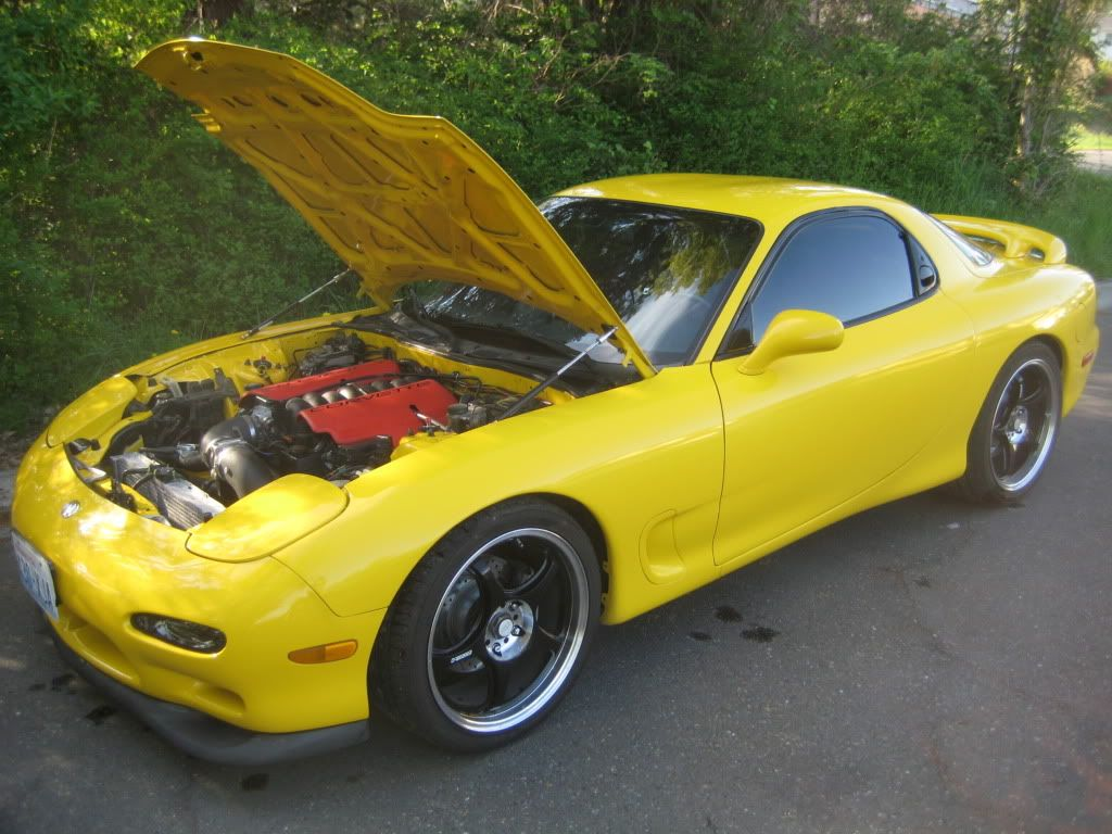 hight resolution of rx7 with a ls1 engine swap