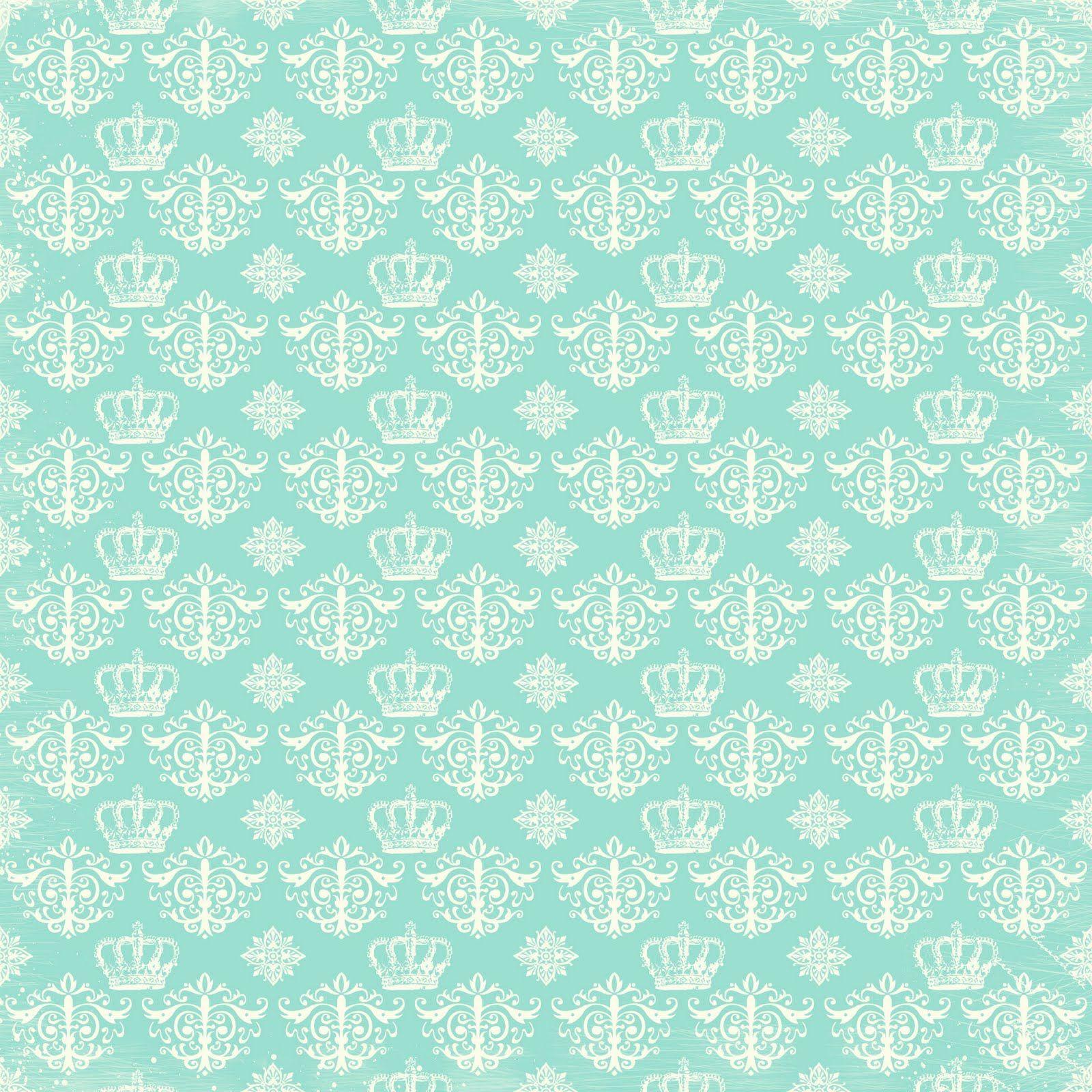 Scrapbook paper as wallpaper - Shabby