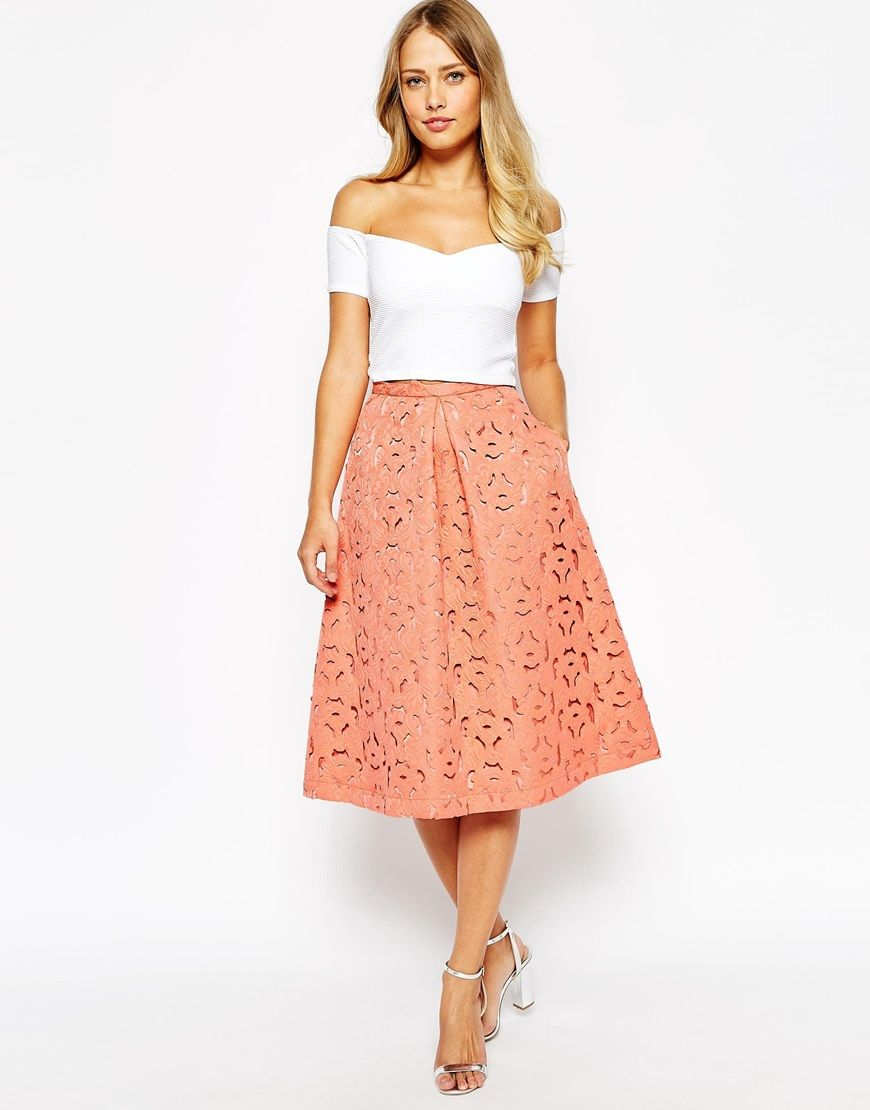 01ea3fa5ff Denim Midi Skirt Shopstyle – DACC