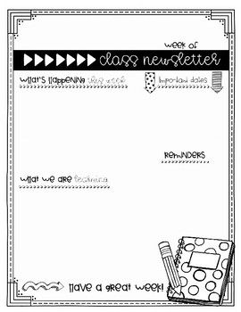 Back to school weekly newsletter templates for teachers weekly back to school weekly newsletter templates for teachers weekly newsletter templateword docback spiritdancerdesigns Images