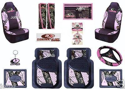 Pink Mossy Oak Brand 15 Piece Auto Accessory Set Floor
