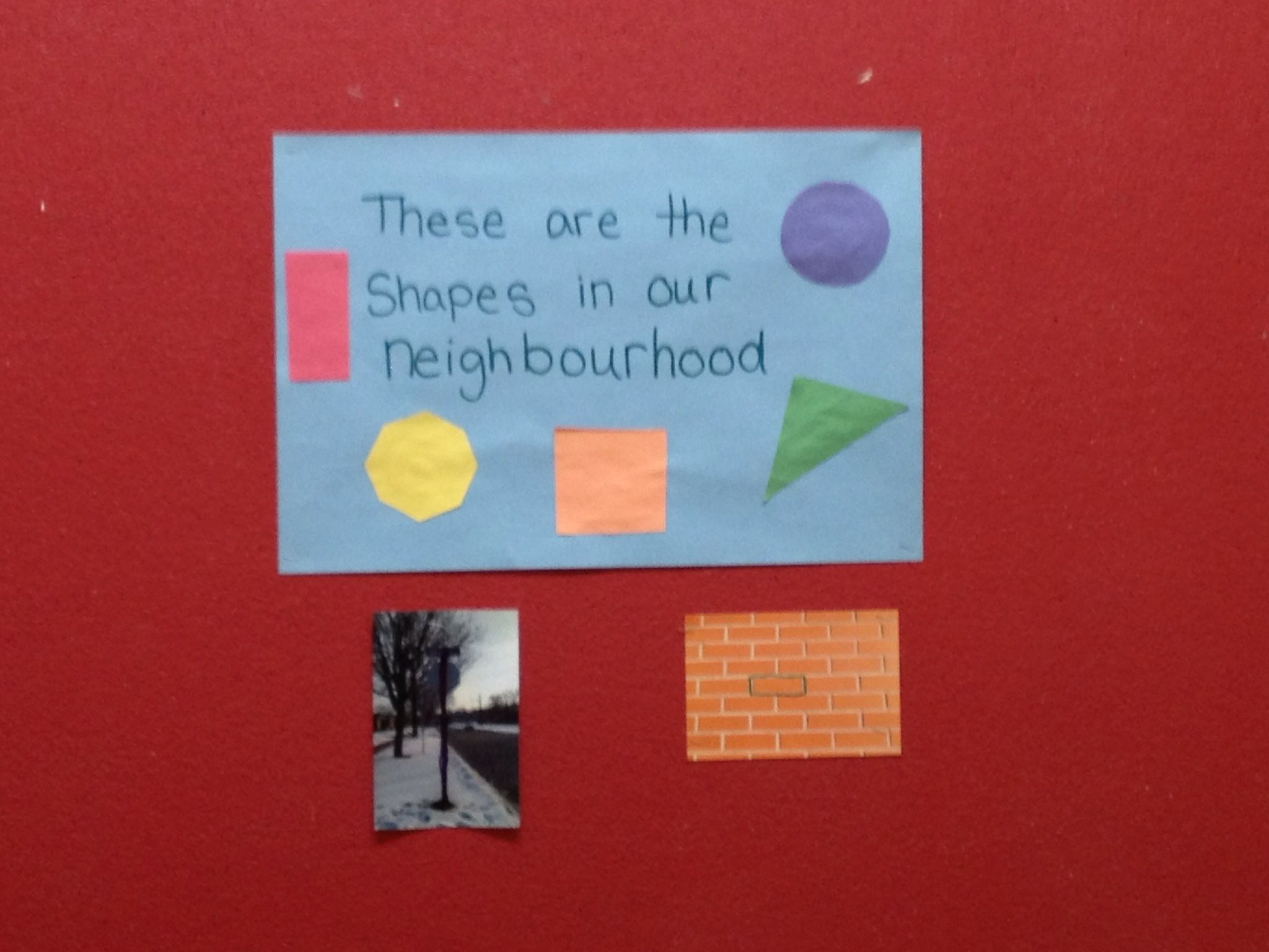 Shapes In Our Neighbourhood Activity Students Go On A