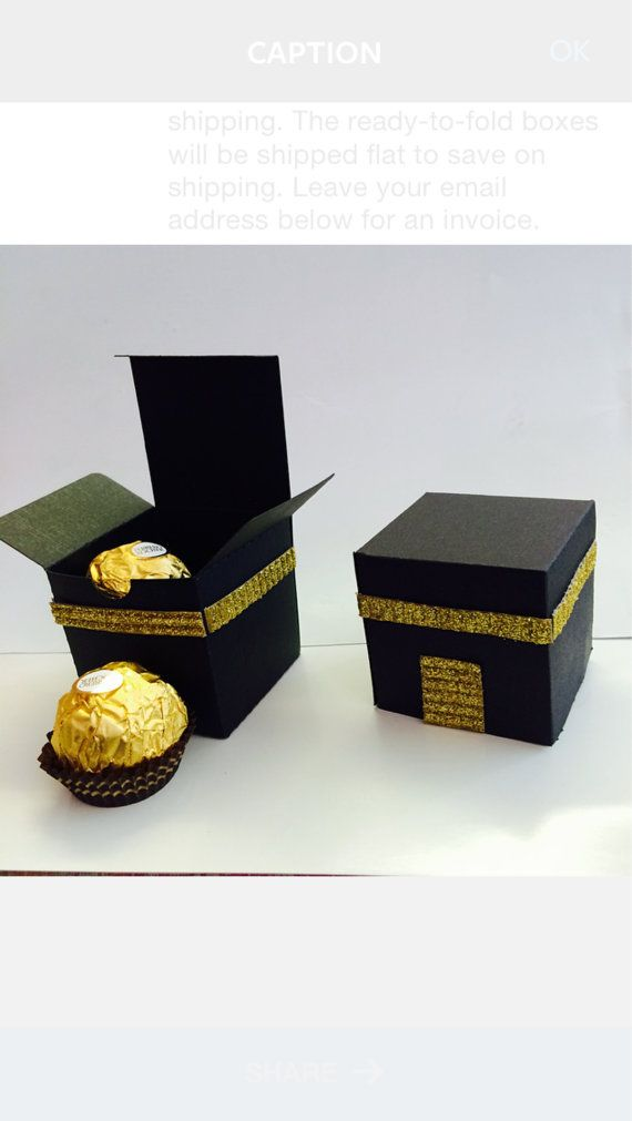 Baby Gifts For Muslim : Hajj party favor boxes inches tall fits two by