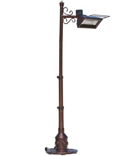 Fire Sense Hammer Tone Bronze Scroll Design Pole Mounted Infrared Patio  Heater By Fire Sense.