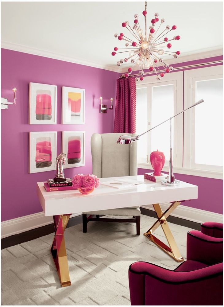 Inspiring Home Offices You\'ll Want to Copy | Magenta, Bright and ...