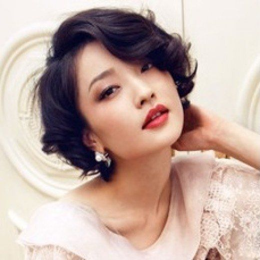 Short And Curly Hair For Chinese Japanese Korean And Thai Women Curly Hair Styles Naturally Japanese Hairstyle Curly Hair Trends