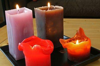 Zelf kaarsen maken van oude stukjes kaarsvet