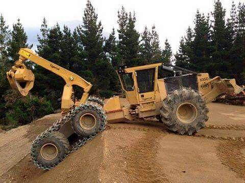tracteur forestier tigercat