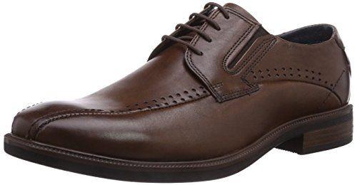 7206b096 Bugatti R04031W - zapatos con cordones de cuero hombre, color marrón, talla  40 Bugatti