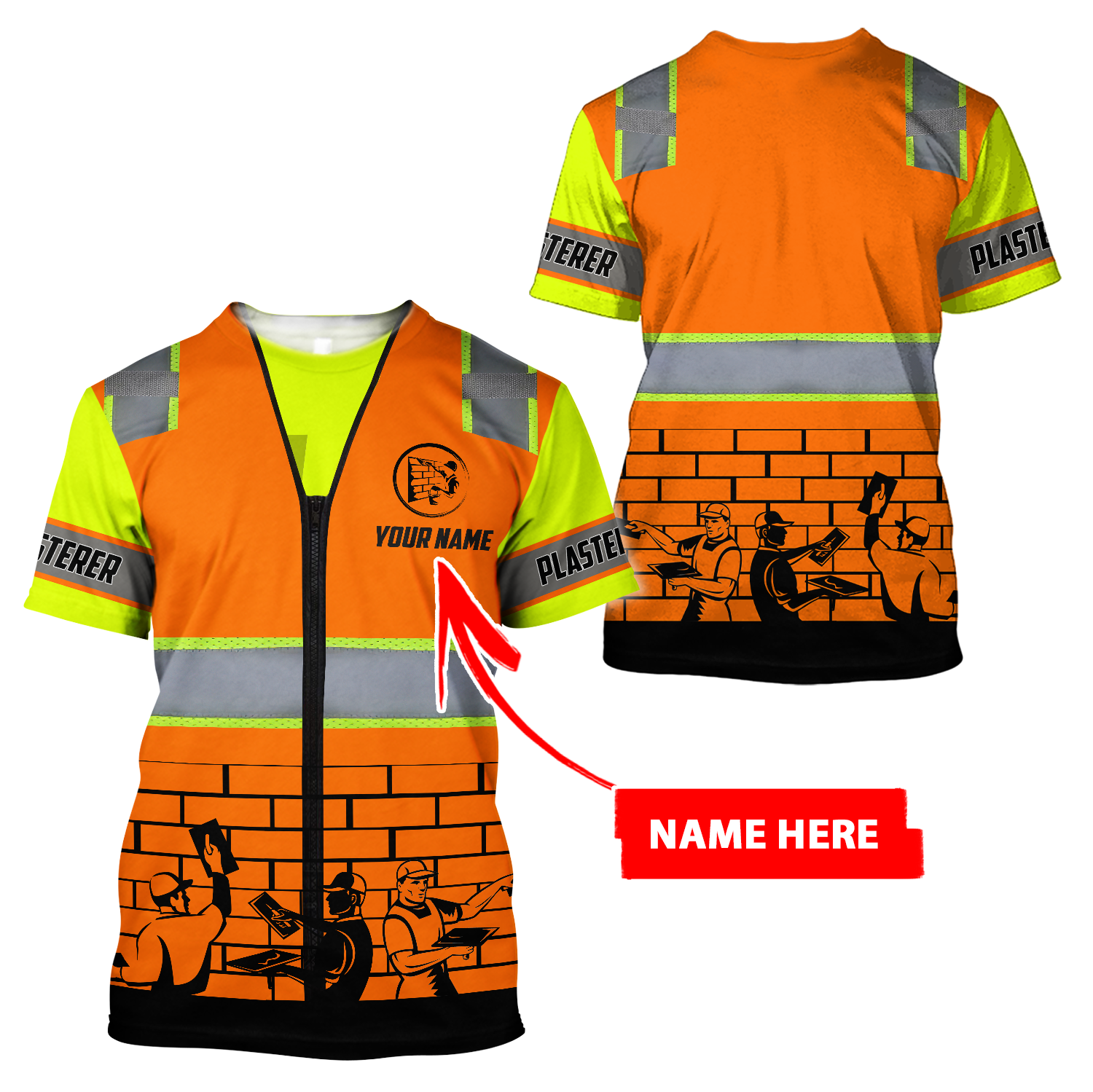 Personalized Name XT Plasterer 3D All Over Printed Clothes PD06032101 - T-shirt / 4XL