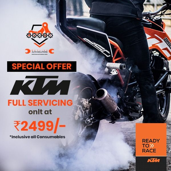 Service Centers Overcharging you? Service KTM Motorcycle at Best Price. Upfront Pricing. Assured Bike Safety. Genuine Spare Parts. Hurry up and Contact today to get an appointment - 02025448703/ 8378969196 Offer valid till 31st December 2019 #Skyline #SkylineAuto #SkylineAutoSolutions #bikeservicing #ktm #ktmbikes #ktmduke #bikerestoration #vintagebikes #motorbikeservicing #servicecentre #bikeshop #loveforride #loveforbike #bikeporn #bikersofinstagram