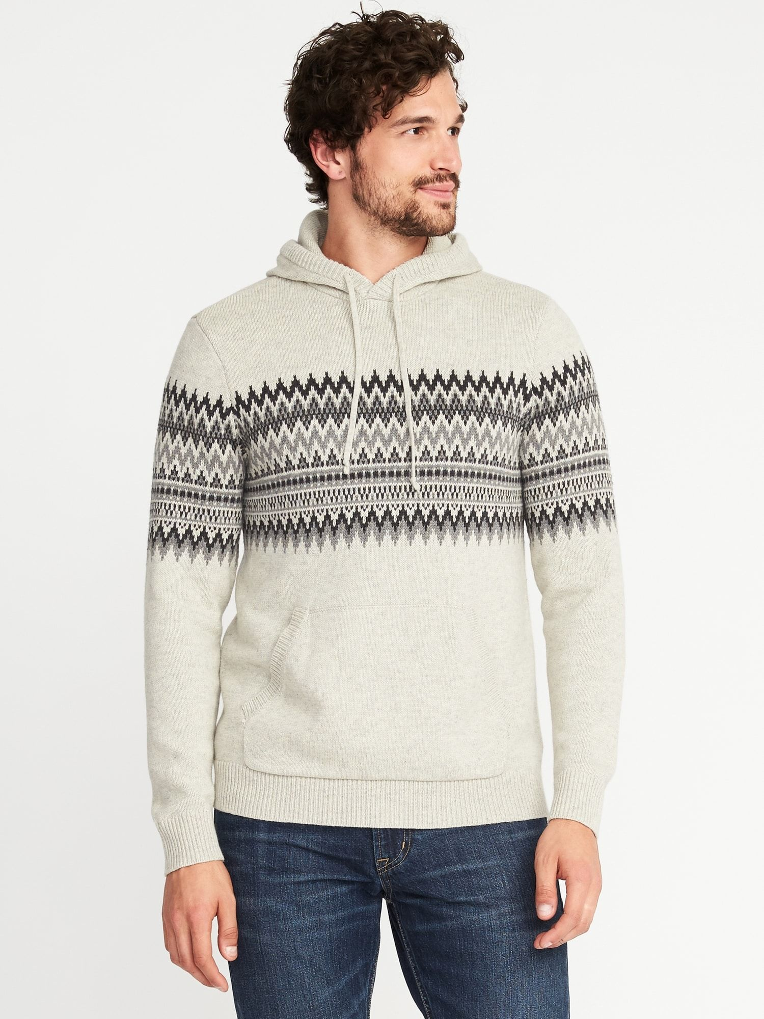 Fair Isle Sweater Hoodie for Men | Old Navy | Christmas List ...
