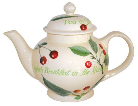 """Cherries"" Kitchen Garden Teapot"