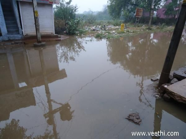 Flooded streets in Gwalior