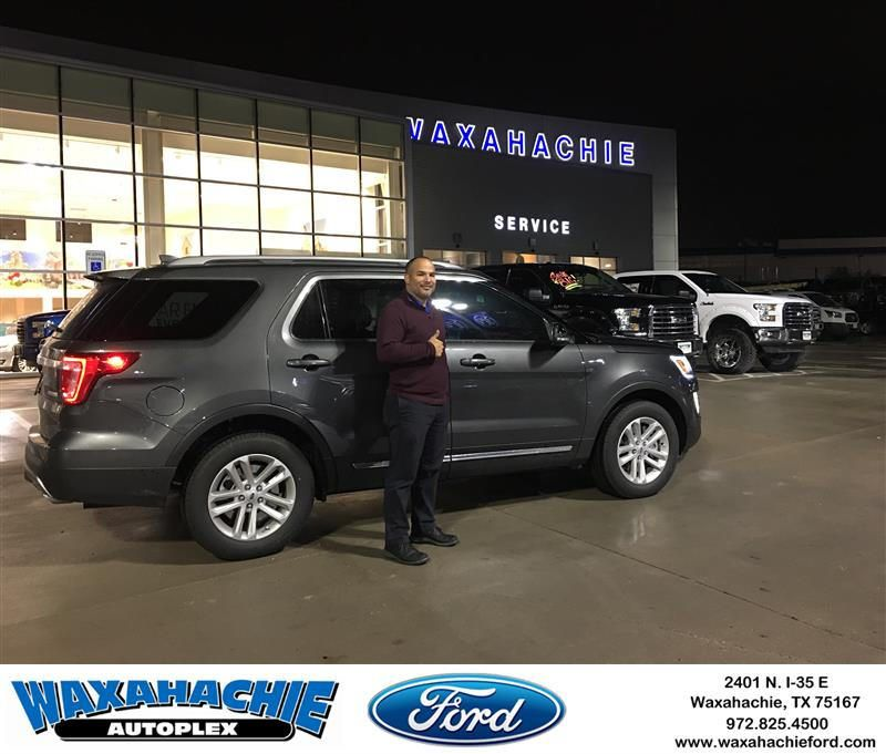 Congratulations Luis On Your Ford Explorer From Johnie Thomas At