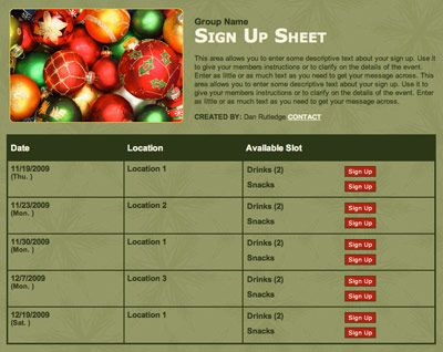 This Christmas sign-up is perfect for your White Elephant party or - holiday sign up sheet templates