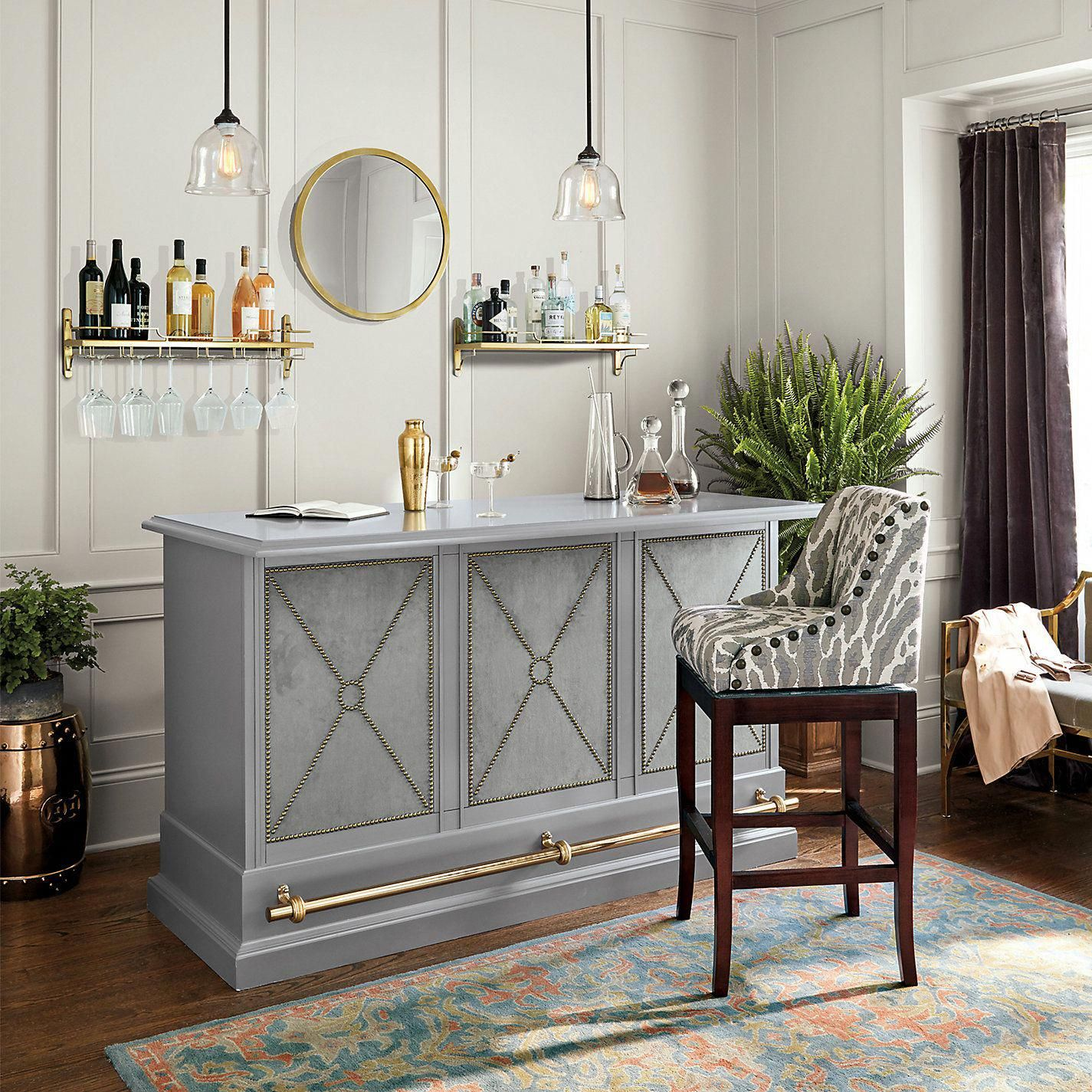 Living Room Bar Ideas: Ballard Designs Comptons Bar #decorforhomebarroom