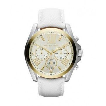 Michael Kors Horloges Wit Leer, Horloges en Michael
