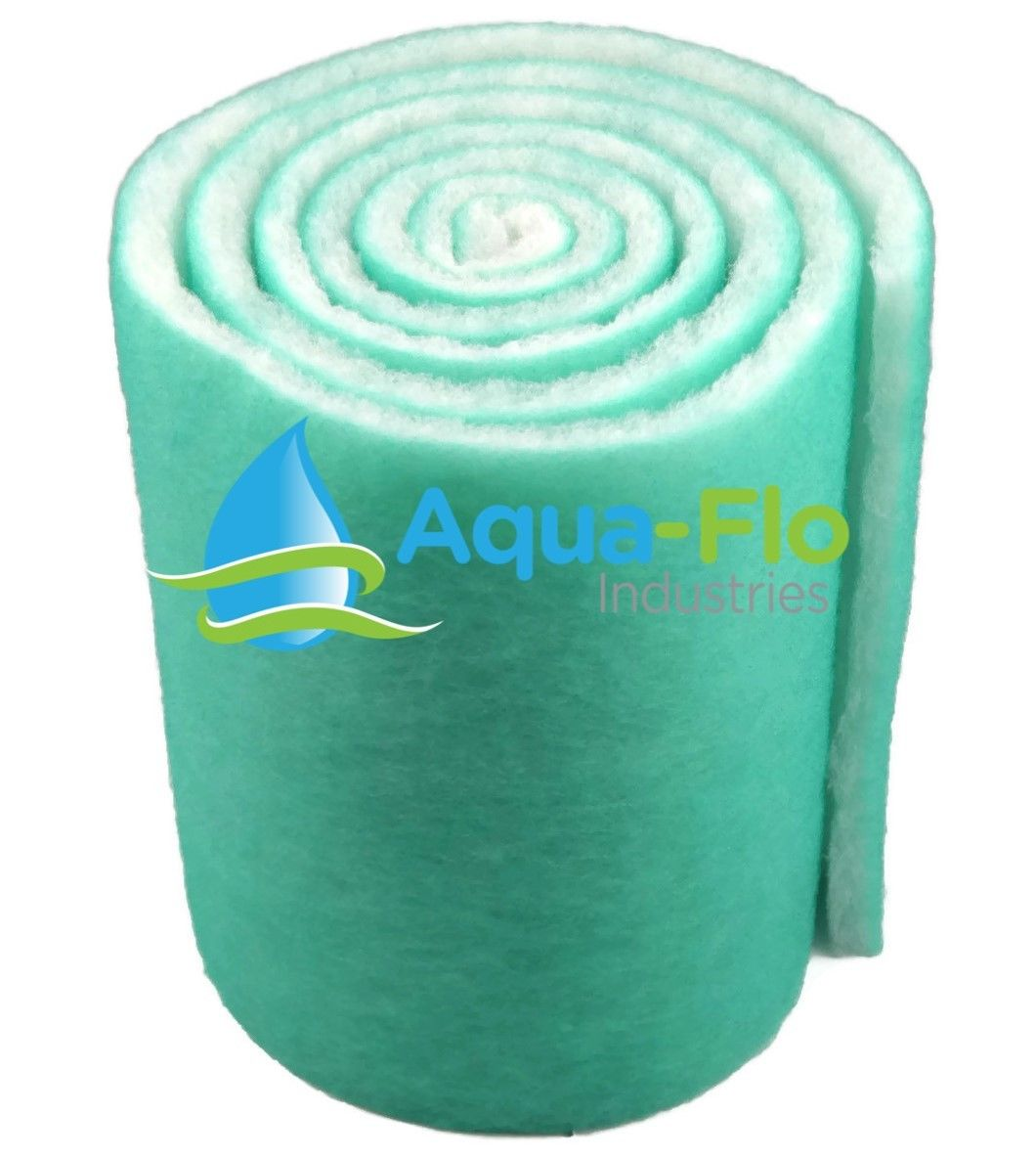 12FT 12 Inch Wide x 144 Inches Long Roll Dual Sided Green Aquarium Pond Filter