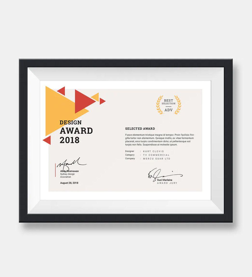 certificate landscape template designtemplateplace