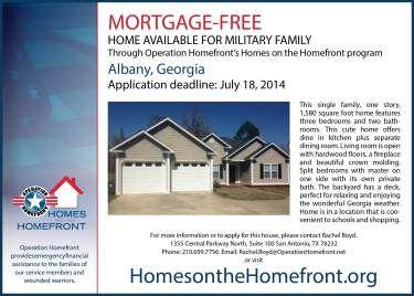 Program Spotlight Homes On The Homefront Home Ownership