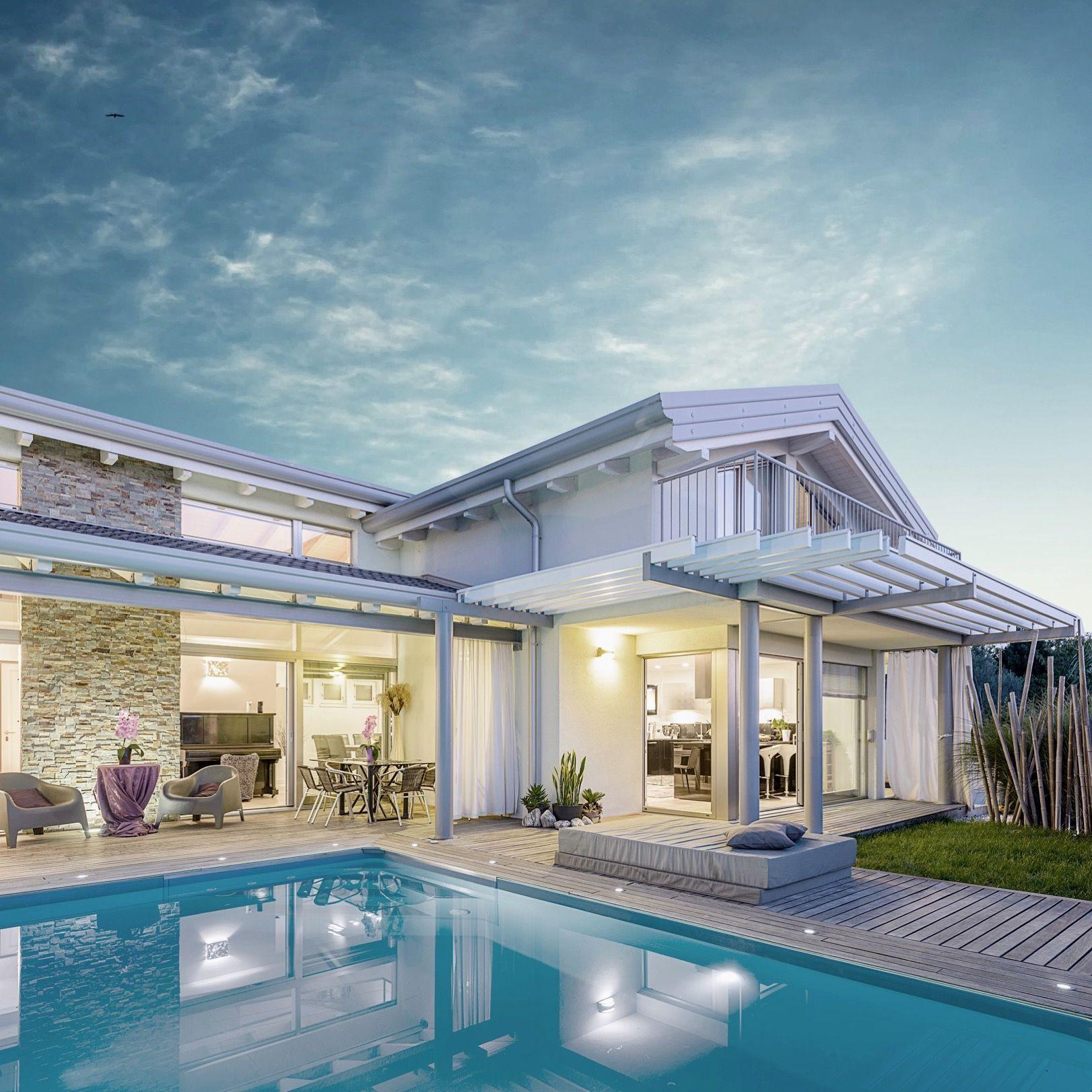 Foto Di Ville Lussuose villa di lusso #biohaus. #design #architettura #bioedilizia