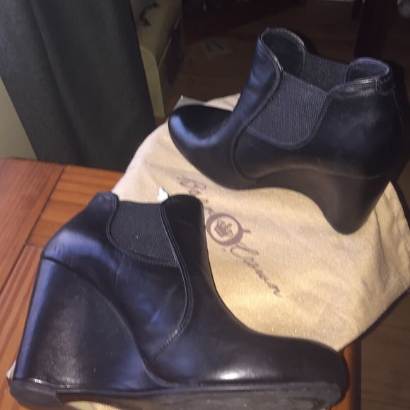 REDUCED Born Crown Jeda Wedge Leather Bootie Born Crown Jeda Wedge Leather Bootie. Worn once Born Shoes Ankle Boots & Booties