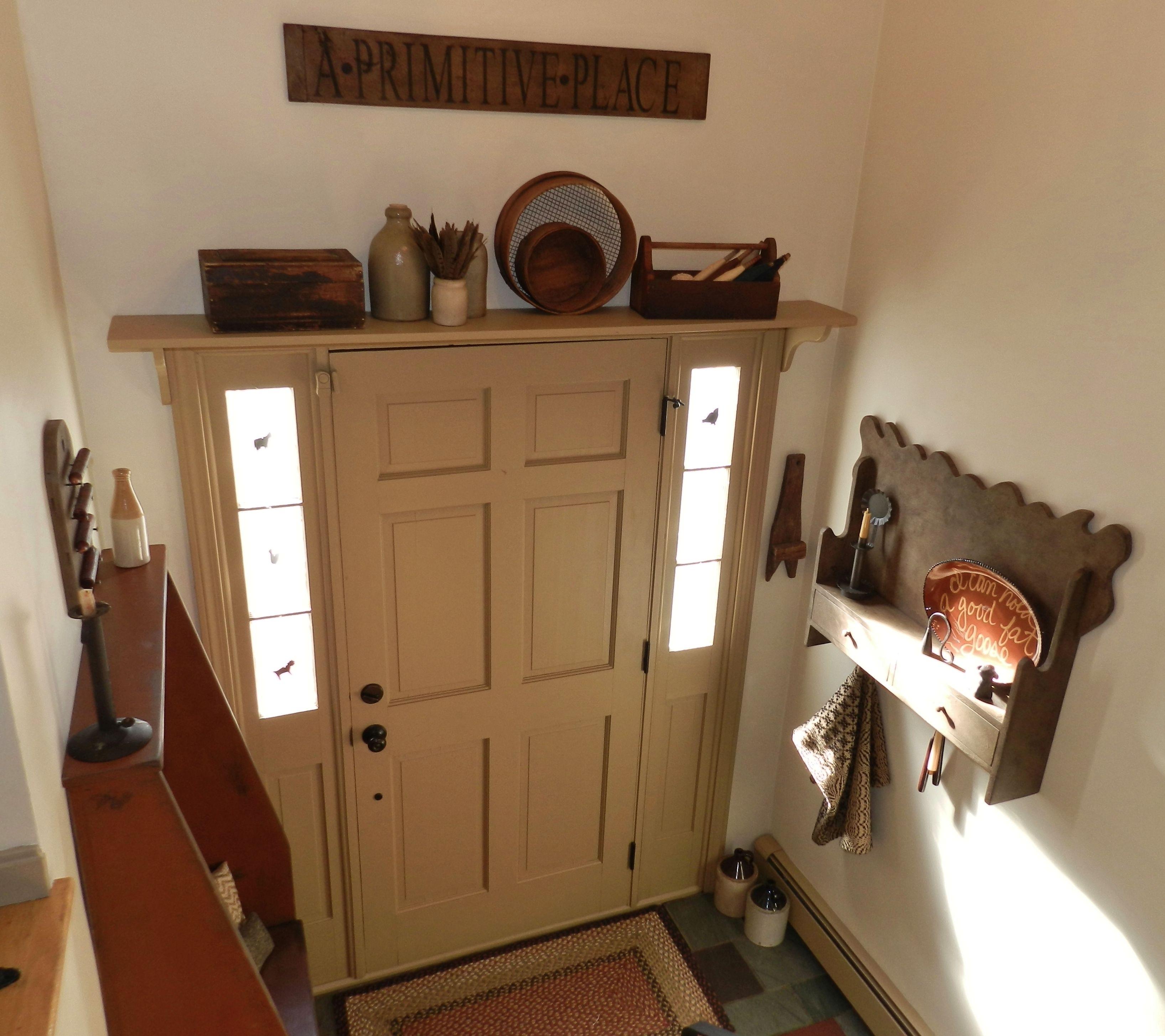 Colonial Primitive Decorating Ideas: Primitive Colonial Entry Door Foyer