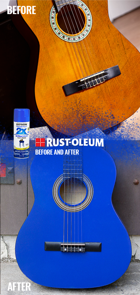 Belt Out The Blues With A New Diy Color Express Your Personality With Rust Oleum Spray Paint On Your F Spray Paint Colors Diy Spray Paint Spray Paint Projects